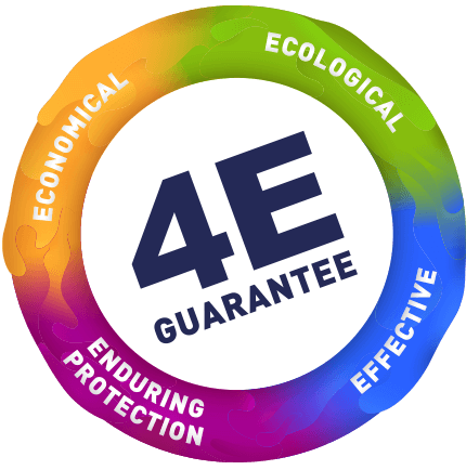 4E Guarantee logo Effective, Ecological, Economical, Enduring Protection