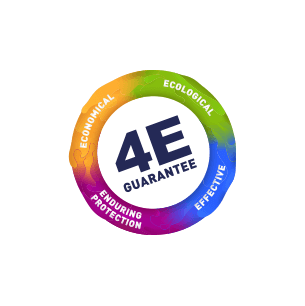 4E Guarantee logo: Effective, Ecological, Economical, Enduring Protection