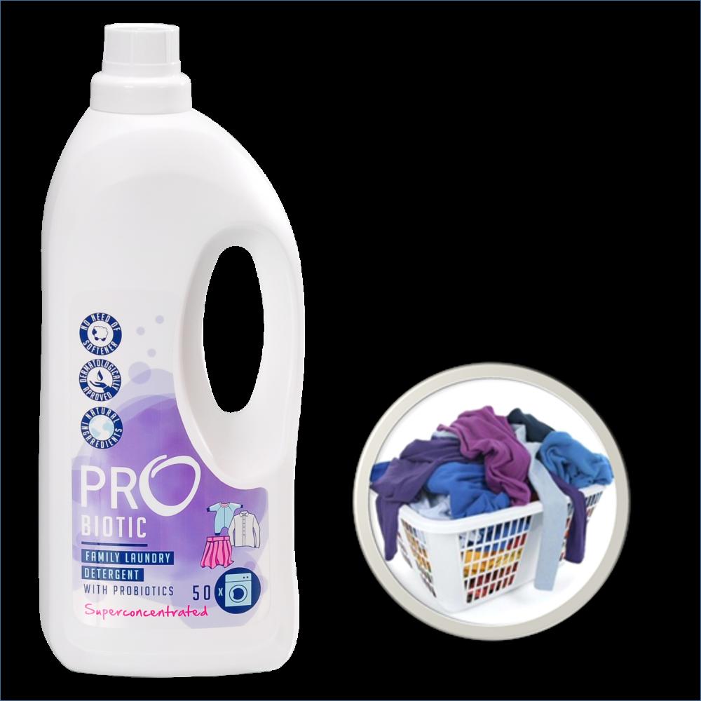PROBIOTIC koncentruotas skalbimo skystis su probiotikais, levandų kvapo, 1500 ml