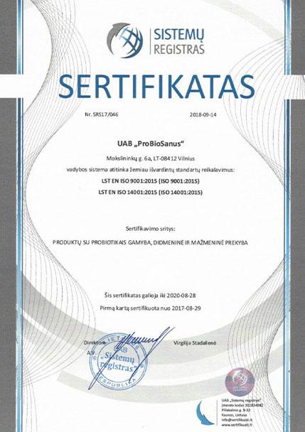 ISO sertifikatai
