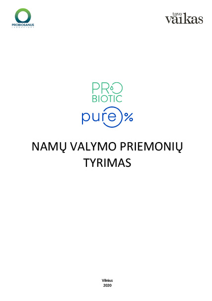 Survey of PROBIOTIC PURE household cleaning products with probiotics